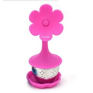 Flower Shape Silicone Tea Strainer