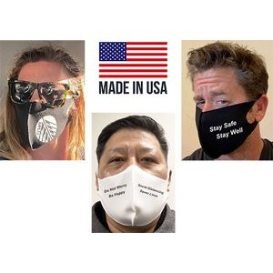 ***MADE IN THE USA*** 2-Layer, Cotton Spandex Mask