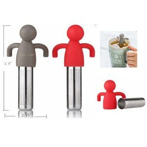 cute silicone doll stainless steel tea Strainer filter infuser